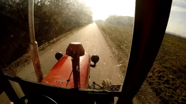 SLO MO Driving An Old Tractor