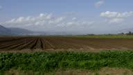 Driving between fields