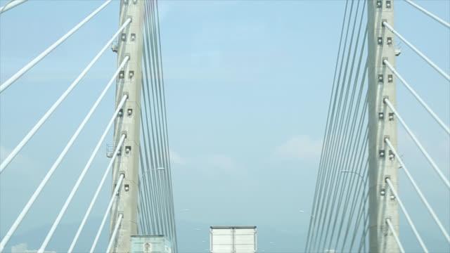 Driving car cross over Penang bridge