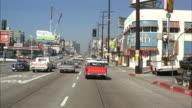POV Driving down Sunset Strip / Hollywood, California, USA