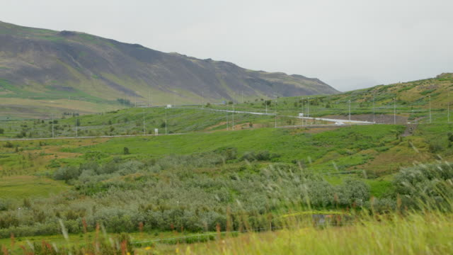 Driving highway at number 1 in Iceland