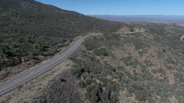 Driving in a desert landscape