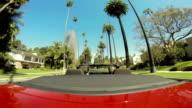 WS POV Driving In Beverly Hills Neighbourhood