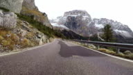 Driving in mountains on board camera