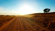 Driving in the Kalahari Desert
