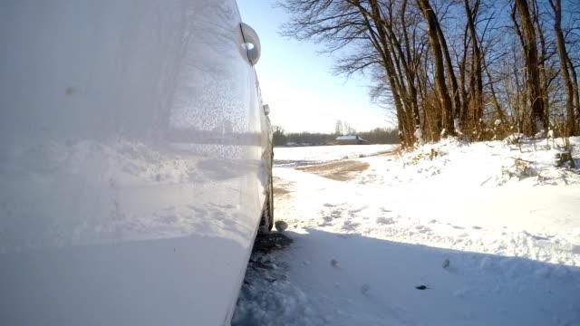 POV Driving In The Snow