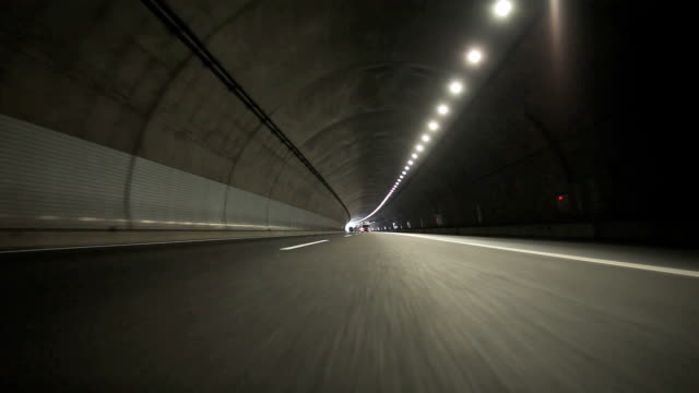 Driving in tunnel- Rear View