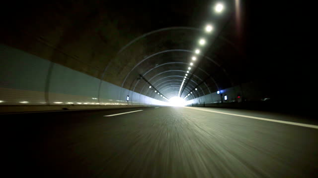Driving in Tunnel,Rear View