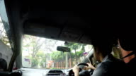 Driving inside the car