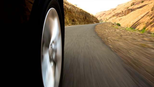 Driving Low angle shot