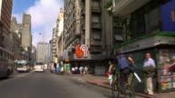 POV Driving on 18 de Julio Avenue, Montevideo, Uruguay