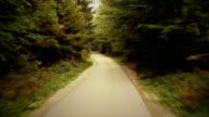 Guida su una foresta strada: HD NTSC, PAL