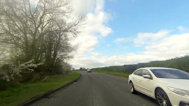 Driving on a main road - Oxfordshire England