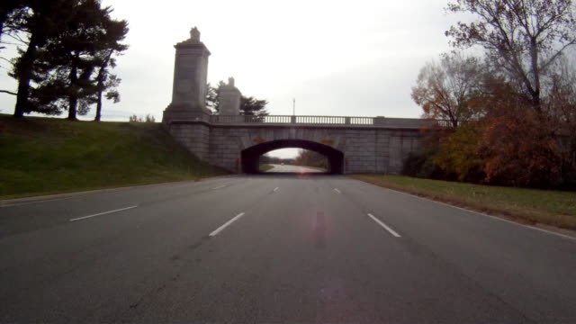 Driving on a motorway near Richmond Virginia on an overcast day.