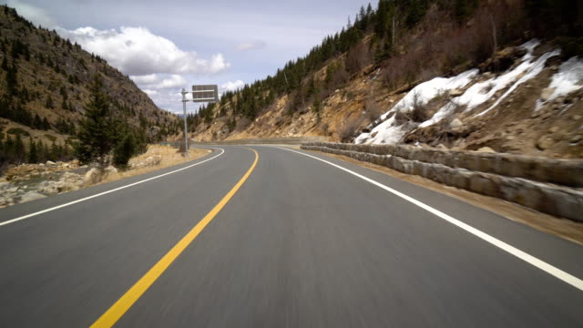 WS POV rijden op snelweg / Sichuan, China