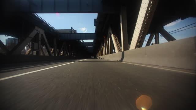 POV Driving on Manhattan Bridge from Brooklyn to Chinatown, New York City, New York, USA