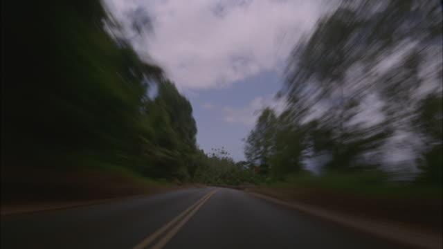 T/L, POV, Driving on rural road, Maui, Hawaii, USA