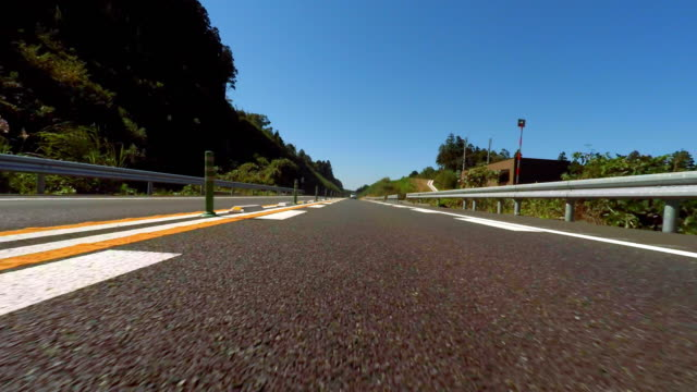 Driving on the highway -rear view -4K-