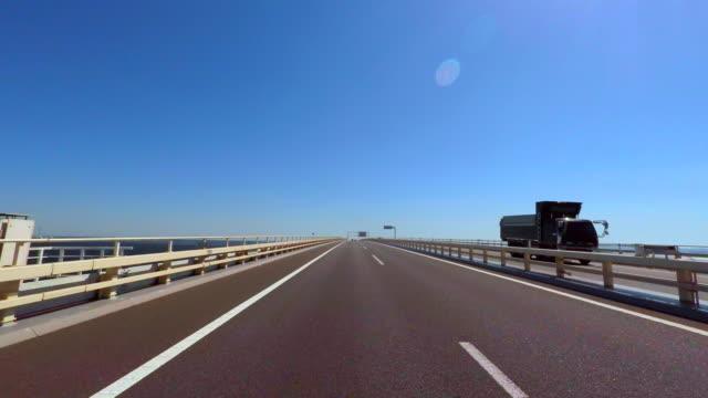 Driving on the ocean -Tokyo Bay Aqua-Line- 4K-