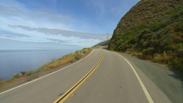 POV Driving on U.S. 1 on California coast, Gorda, California, USA