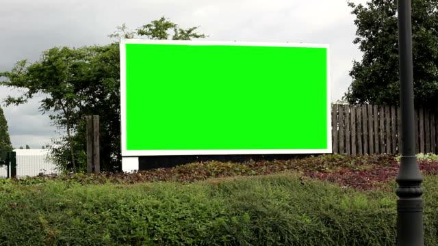 Driving past an Advertising Billboard - Green screen