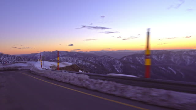 Driving plate through Mount Hotham in the Victorian Alps of the Great Dividing Range.