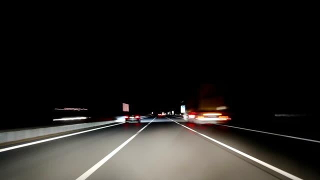 Driving Point Of View at Night