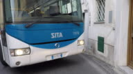 Driving Pov on the Amalfi coast road.