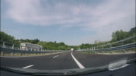 Driving the car in the highway - Timelapse video