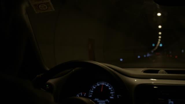 SLO MO Driving through a tunnel