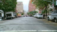 TS / FRONT VIEW /Driving Through Downtown Manhattan / New York City / NY NY