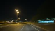 POV driving through Dubai during night.