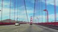 POV, Driving through Golden Gate Bridge, San Francisco, California, USA, T/L