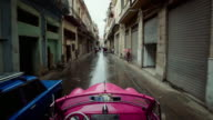 Driving through Havana, Cuba, in a 1950's Classic Car
