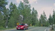 POV driving through Lake Tahoe
