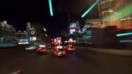 T/L, POV driving through Las Vegas Strip at night, Las Vegas, Nevada, USA