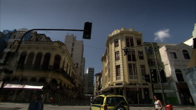 Driving through narrow city streets in Brazil Available in HD.