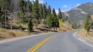 Driving through Rocky Mountain Range, Colorado