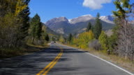 Driving through Rocky Mountain Range, Colorado