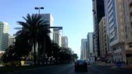 Driving through streets of Abu Dhabi
