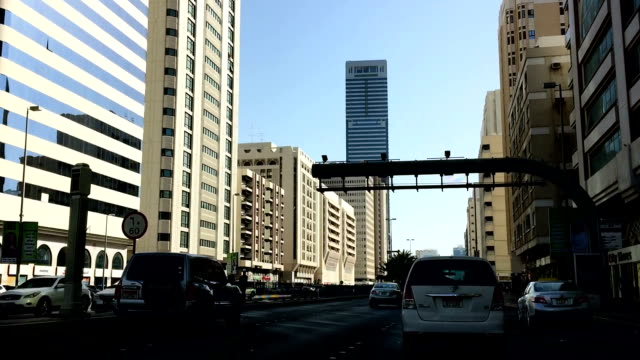 Driving through streets of Abu Dhabi