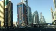 Driving through streets of Dubai