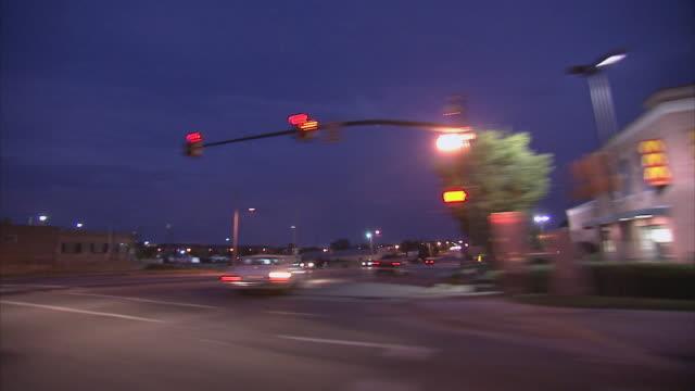 POV Driving through suburban downtown / Columbia, South Carolina, United States