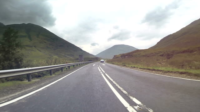 Driving through the Highlands - Scotland