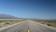 Driving through the Nevada Desert