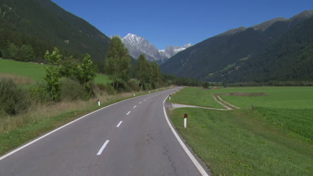 POV Driving Through the Valley of Anterselva in South Tyrol