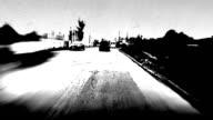 Driving POV, time lapse