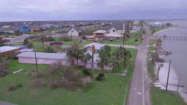 Drone POV Hurricane Harvey Devastation