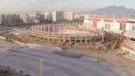 Drone images of Rio 2016 Olympic Park under construction