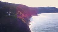 Drone Shot of Oregon Coast at Cape Meares